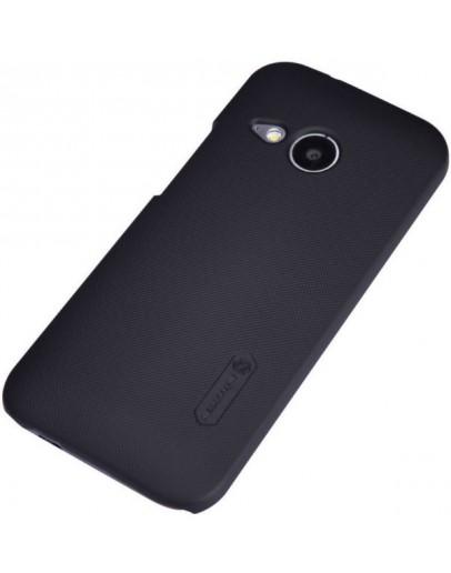 Carcasa protectie spate + folie ecran pentru HTC One Mini 2 - neagra